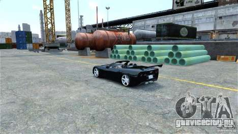 Chevrolet Corvette C6 Convertible v1.0 для GTA 4 вид слева