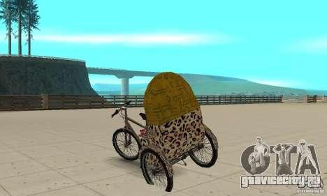 Manual Rickshaw v2 Skin4 для GTA San Andreas вид сзади слева