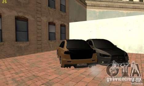 Mitsubishi Lancer Evolution Dag Style для GTA San Andreas вид сзади слева