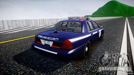 Ford Crown Victoria Homeland Security [ELS] для GTA 4 вид сбоку