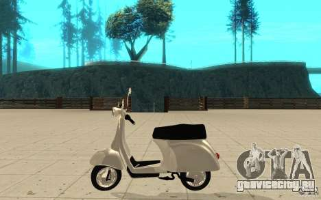 GTAIV EFLC Faggio Classic для GTA San Andreas вид слева