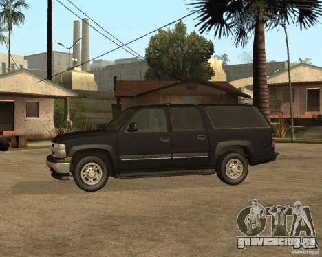 Chevrolet Suburban FBI для GTA San Andreas вид сзади слева