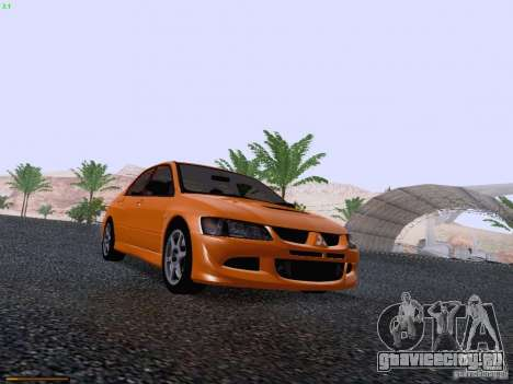 Mitsubishi Lancer Evolution VIII для GTA San Andreas вид изнутри
