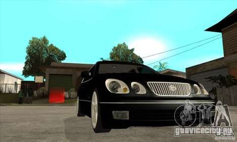 TOYOTA ARISTO 2001 года для GTA San Andreas вид сзади