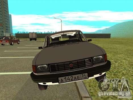 ГАЗ 31022 Волга для GTA San Andreas вид сзади слева