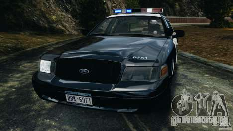 Ford Crown Victoria Police Interceptor 2003 LCPD для GTA 4 вид сбоку