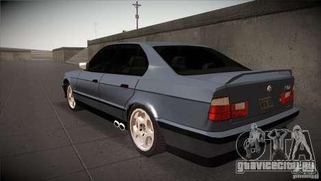 BMW M5 E34 1990 для GTA San Andreas вид сзади слева