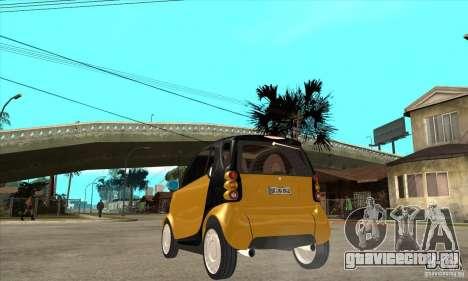 Smart для GTA San Andreas вид сзади слева