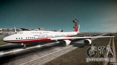 THY Air Plane для GTA 4 вид слева