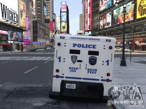 Enforcer Emergency Service NYPD для GTA 4 вид справа
