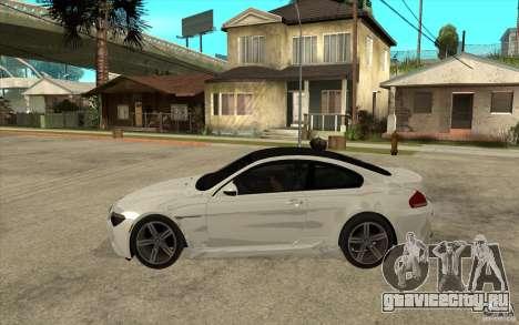 BMW M6 Coupe V 2010 для GTA San Andreas вид слева
