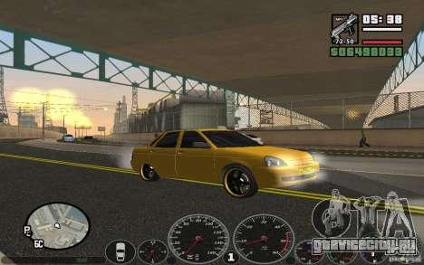 ВАЗ Лада Приора Такси для GTA San Andreas вид справа