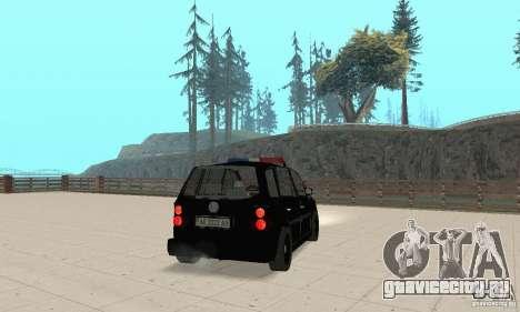 Volkswagen Touran 2006 Police для GTA San Andreas вид слева