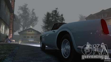 Ferrari 250 California 1957 для GTA 4 вид изнутри