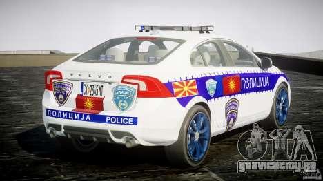 Volvo S60 Macedonian Police [ELS] для GTA 4 вид сбоку