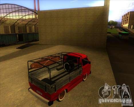 Volkswagen Transporter T3 pickup для GTA San Andreas вид справа