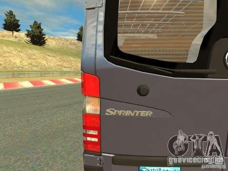Mercedes-Benz Sprinter 2500 для GTA 4 вид сзади