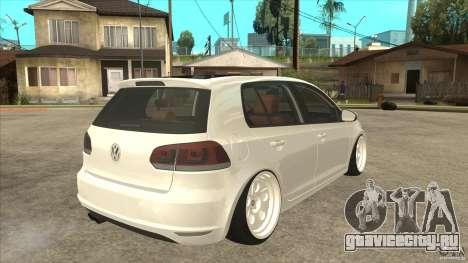Volkswagen Golf VI 2010 Stance Nation для GTA San Andreas вид справа