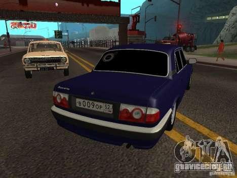 ГАЗ Волга 31105 рестайлинг для GTA San Andreas вид сзади слева