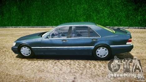 Mercedes Benz SL600 W140 1998 higher Performance для GTA 4 вид слева