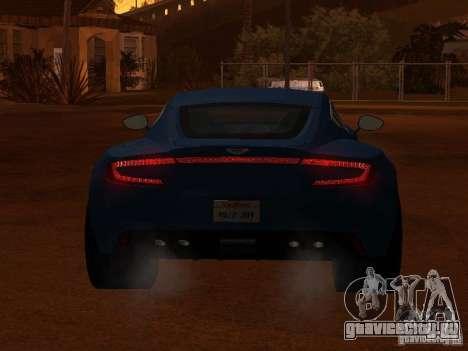 Aston Martin One77 для GTA San Andreas вид сзади