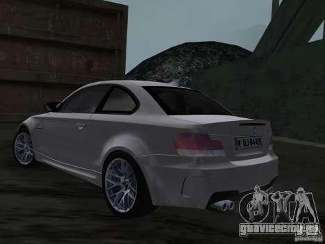 BMW 1M Coupe RHD для GTA Vice City вид сзади слева