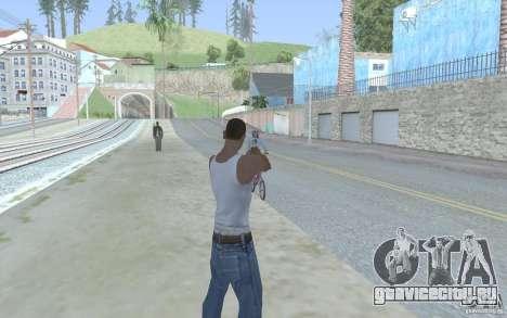 Голубой прицел для GTA San Andreas четвёртый скриншот