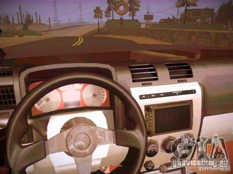 Hummer H3R для GTA San Andreas вид изнутри