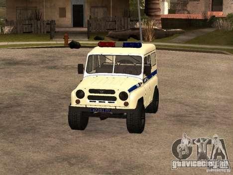 УАЗ Полиция для GTA San Andreas вид слева
