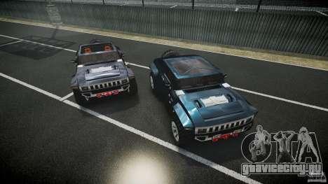 Hummer HX для GTA 4 вид снизу