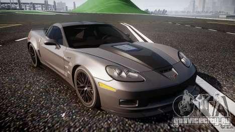 Chevrolet Corvette ZR1 2009 v1.2 для GTA 4 вид изнутри