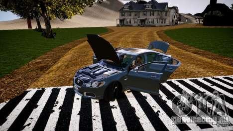 Jaguar XFR 2010 для GTA 4 вид сбоку