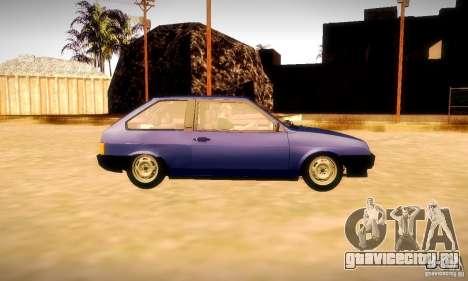 ВАЗ 2108 v2.0 для GTA San Andreas вид сбоку