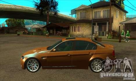 BMW E90 M3 для GTA San Andreas вид слева