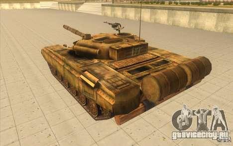 Танк Т-72 для GTA San Andreas вид сзади слева
