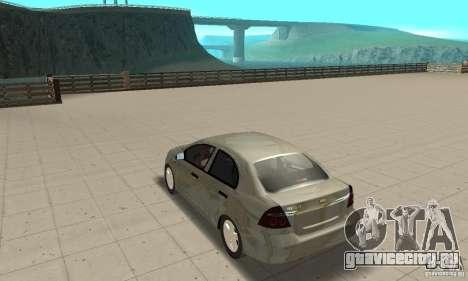 Chevrolet Aveo для GTA San Andreas вид сзади слева