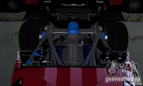 Ford GT 2005 для GTA San Andreas вид изнутри
