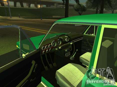 ВАЗ 2106 Пол-седьмого для GTA San Andreas вид сзади