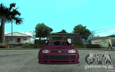 Volkswagen Golf GTI 4 Tuning для GTA San Andreas вид справа