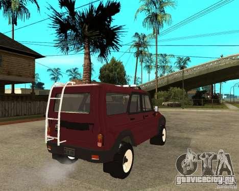 УАЗ 3159 Hunter (Хантер) для GTA San Andreas вид сзади слева