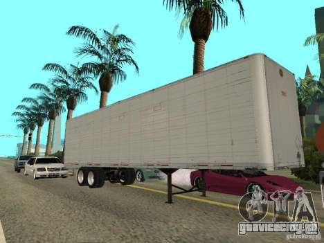 American Trailers Pack для GTA San Andreas вид сзади слева