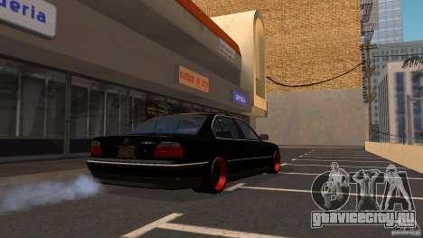 BMW E38 750LI для GTA San Andreas вид сзади слева