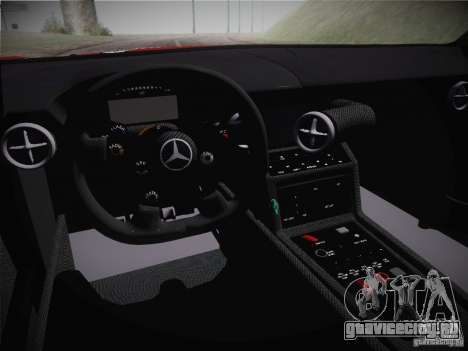 Mercedes-Benz SLS AMG GT3 Black Falcon 2011 для GTA San Andreas вид изнутри