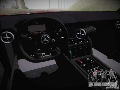 Mercedes-Benz SLS AMG GT3 Black Falcon 2011 для GTA San Andreas вид изнутри