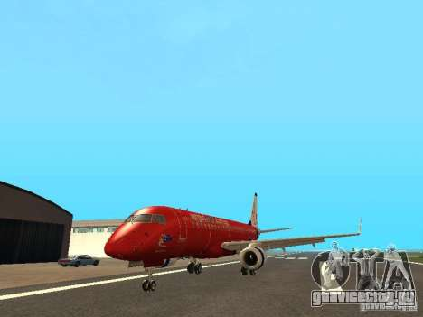 Embraer ERJ 190 Virgin Blue для GTA San Andreas