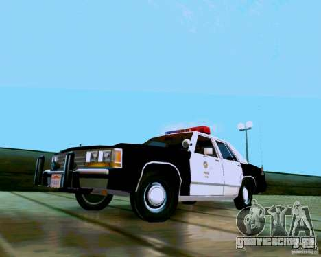 Ford Crown Victoria LTD LAPD 1991 для GTA San Andreas вид сзади слева