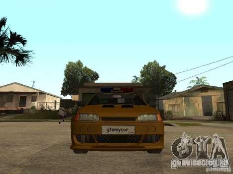 ВАЗ 2115 Police Tuning для GTA San Andreas вид справа