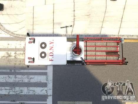 Fire Truck FDNY для GTA 4 вид изнутри