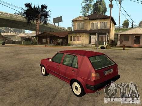 Volkswagen Golf MKII 5dr для GTA San Andreas вид слева