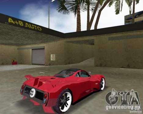 Pagani Zonda S для GTA Vice City вид справа